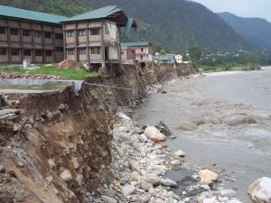 Buildings in Uttarkashi damaged by the mid-June flash floods (Photo by Pushkar Rawat)