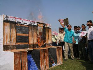 Mass protests in Assam have stalled the construction of the Lower Subansiri dam for almost two years (Image by International Rivers).
