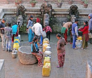 Half of Kathmandu valley's 400 stone spouts, or Hiti, have disappeared over the past few decades (Image by Jean-Pierre Dalbéra).