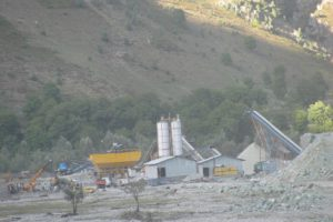 Work on Kishenganga project [image by Athar Parvaiz]