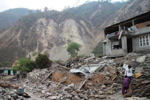 Landslide in the district of Sindhupalchowk, Nepal (Image: Richard Friedericks)