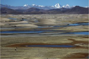 Large swathes of the Tibetan plateau, source of the Brahmaputra and Asia's major rivers, have become desert (Image by Yang Yong)
