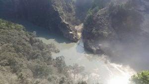 The lake that has formed due to the landslide blocking the Kali Gandaki (Image courtesy Nagarik News)