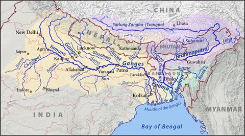 ganga Brahmaputra Meghna basins