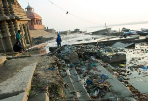 The pressure on the Ganga through pollution is massive [image by Daniel Bachhuber]