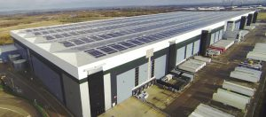 Britain's largest single solar rooftop at the East Midlands distribution centre of Marks & Spencer [image by M&S]