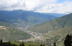 As Thimphu has expanded it has swallowed farmland and other areas over the last few decades [image by Dawa Gyelmo]