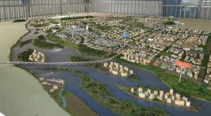 A scale model of Amaravati, on the banks of the Krishna river [image by S. Gopikrishna Warrier]