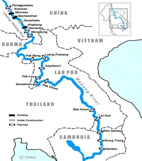 mekong dams map