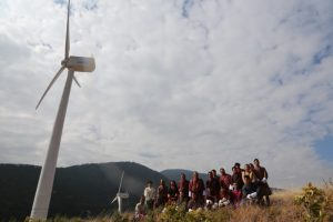A new wind turbine installed in Bhutan [image by Dawa Gyelmo]