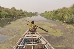 The untreated effluents, especially from textile dyeing units, that Drain Number 2 carries from Panipat to the Yamuna upstream of Delhi [Image by Dilip Banerjee]