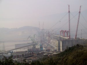 Construction of China's Three Gorges dam