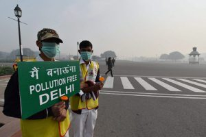 Volunteers on the road [image courtesy PTI]
