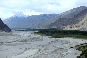 The Shigar, a tributary to the Indus, winds through Skardu [image by Zofeen T Ebrahim]