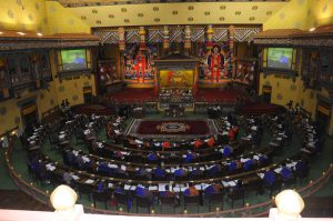 The Bhutanese Parliament in Session [image courtesy Bhutan National Assembly]