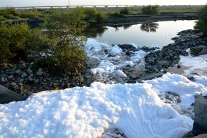 Many drains in Karachi carry untreated effluents [image by Amar Guriro]
