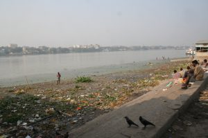Water pollution along the banks of Ganga River, West Bengal