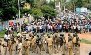 Protests in Bangalore over Cauvery water. (Source: PTI)