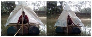 What the floating latrine looks like in practice [image by Muhammad Talut]