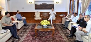 Narendra Modi chairing the meeting on Indus Water Treaty [ Image by Press Information Bureau, Government of India]