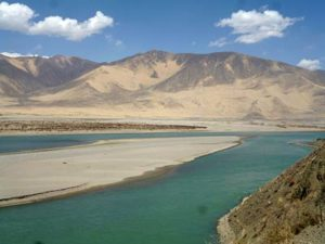 The Brahmaputra, called the Yarlung Zangbo in Chinese, flows through the Xigaze area of Tibet