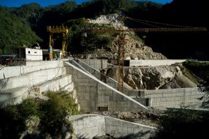 The Dagachu hydropower project being constructed [image by Asian Development Bank]