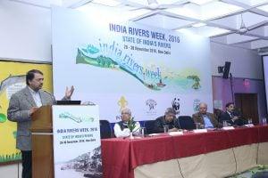 Shashi Shekhar speaking at India Rivers Week [image courtesy India Rivers Week]