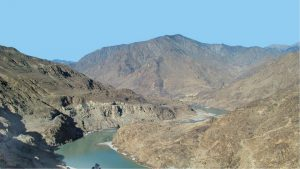 The Indus at the site of the proposed Diamer-Basha dam [image by: Water and Power Development Authority, Pakistan]