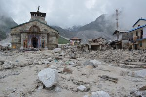In 2013 the destruction caused by the overflow of the glacier lake was immense [image by: Hridayesh Joshi]