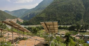 Solar panels have brought the power to irrigate the fields of Dapkha [image by: Abhaya Raj Joshi]