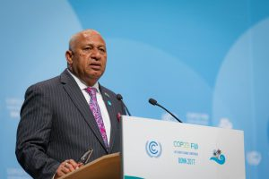 The Prime Minister of Fiji, as President of COP23, is trying to break the deadlock [image courtesy: UNclimatechange]