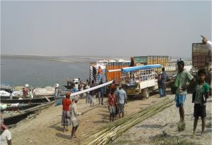 Waterbased transport is already in extensive use by locals of the region such as in Hatsingimari, Assam [image by: CUTS]