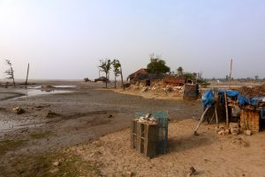About a third of the land in Dhoblat Shibpur village on Sagar Island has sunk under the sea in less than 20 years [image by: Soumya Sarkar]