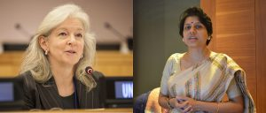 Ko Barrett, on the left, is  Vice Chair of the IPCC; Purnamita Dasgupta, on the right, is a Coordinating Lead Author for the International Panel on Social Progress