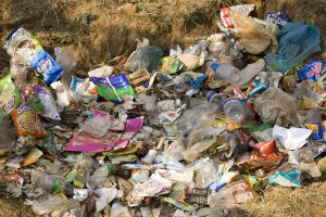 Non-biodegradable waste is becoming a problem in Bhutan (Image: Dave G. Houser/Alamy)