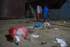 plastic waste along the streets of South Asia