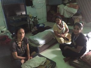 Residents and managers at women's night shelter 85, New Delhi [image by: Anasuya Basu]