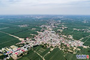 An aerial photo of Anxin County, Xiong'an New Area. (Image: 王永康 / 中国雄安官网)