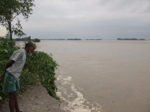Koshi embankment breach, Image source: International Rivers
