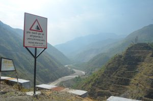Landslides are one of the many challenges at the of the Lakhwar dam [image by: Bhim Singh Rawat / SANDRP]