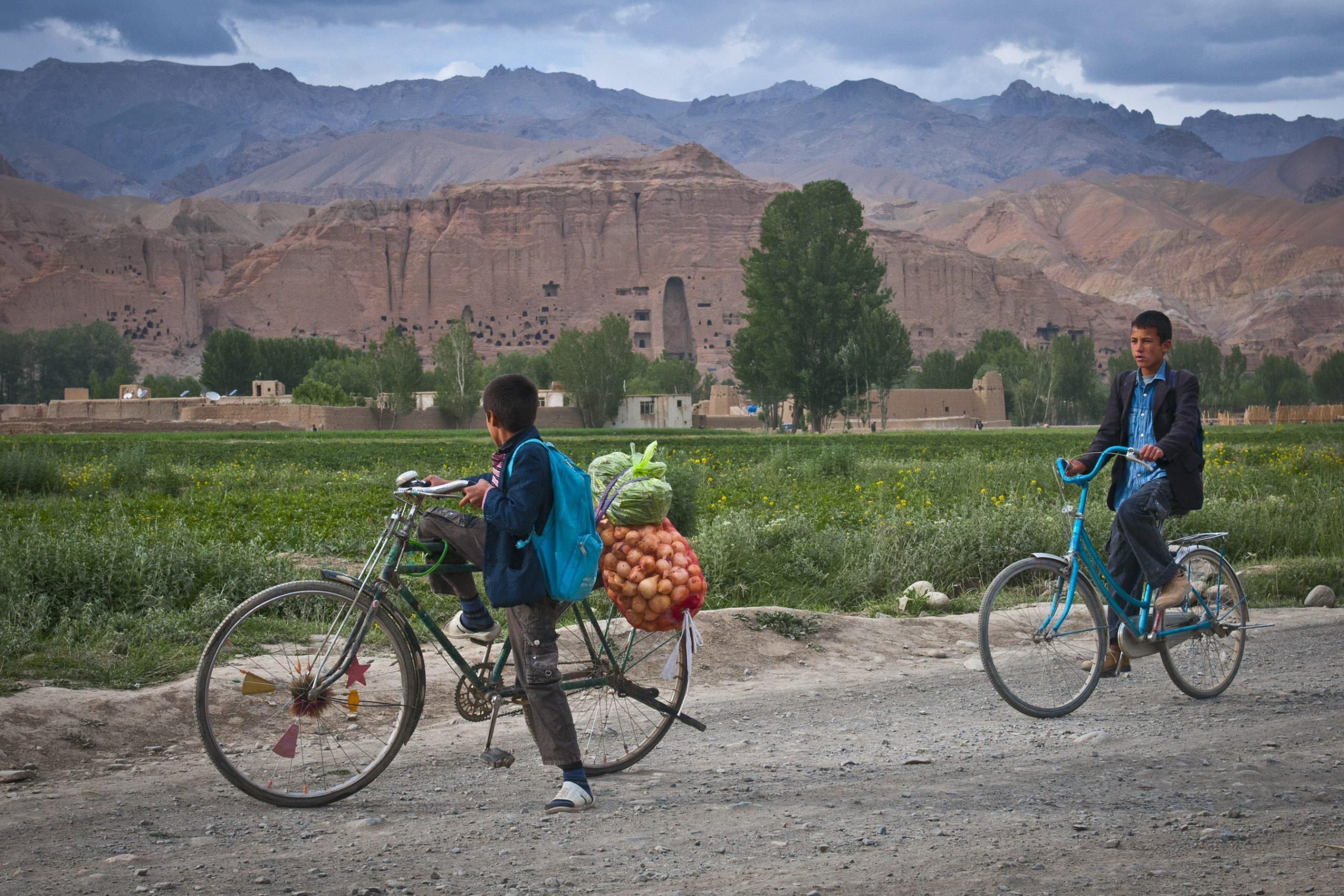 Giant standing Buddhas of Bamyan still cast shadows