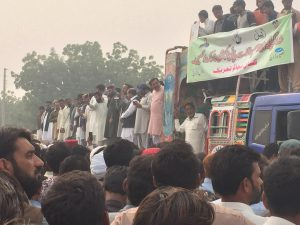 Farmers hold protests  in Rahim Yar Khan, Punjab province, over water theft from the Indus canal system.