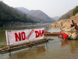 Local communities in Salween continue to protest against Chinese backed projects on the Mekong [image courtesy: International Rivers]