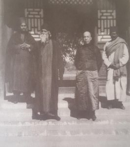 """Rabindranath Tagore with the Chinese intellectual Liang Qichao in Beijing, 1924, from Sen's """"India, China, and the World"""", image courtesy of the Liang family"""