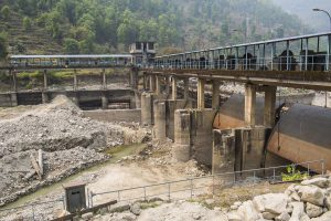 damaged hydropower plant in Nepal, India