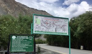 Rules against littering are prominently posted at Khunjerab Pass, but there is nobody to enforce them [image by: Maha Qasim]