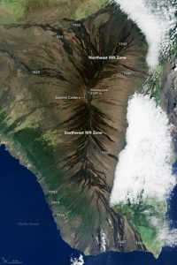 Landsat 8 acquired this image of Mauna Loa on December 20, 2014. The CO2 observatory is located just north of the summit caldera [image by: NASA Earth Observatory/Landsat 8]