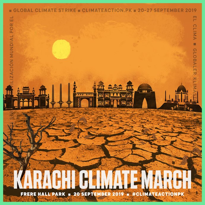 Karachi Climate March poster details, 20 September 2019