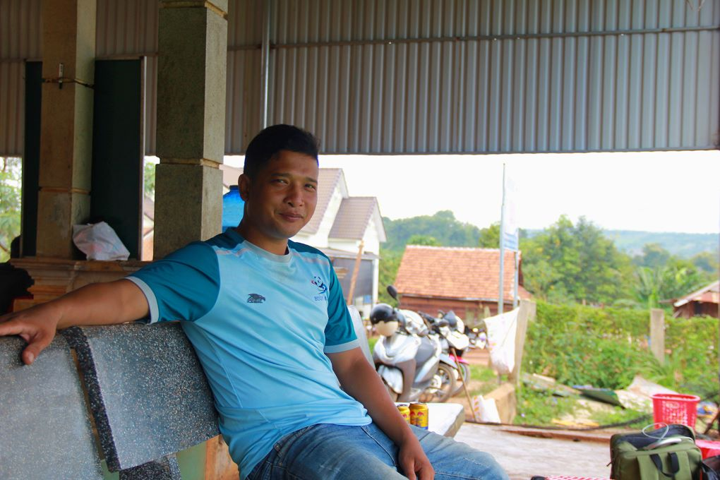 Coffee farmer Thuyl Nie at his home in Cu Pong commune, Buon Ma Thuot, Vietnam