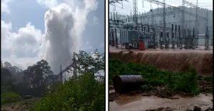 Kopili hydropower station flood 16 October 2019